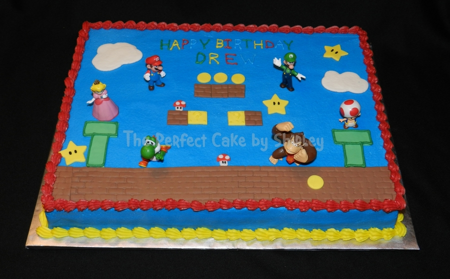 Super Mario Birthday Sheet Cake