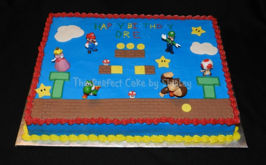 Super Mario Birthday Sheet Cake
