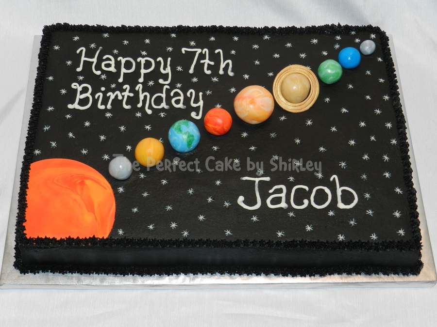 Solar System Sheet Cake on Solar System Terms