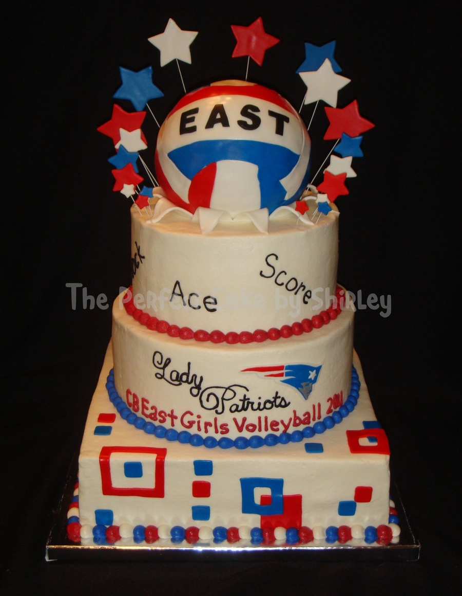 Volleyball Banquet Cake on Cake Central