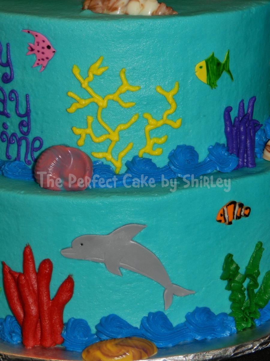 Oceanunderwater Theme Birthday CakeCentralcom
