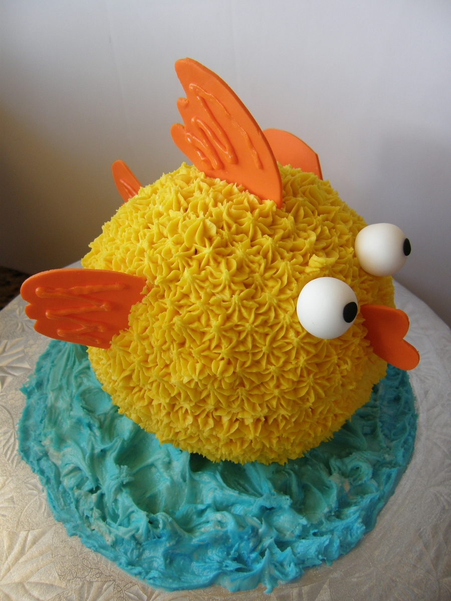 Gold Fish First Birthday Cake on Cake Central