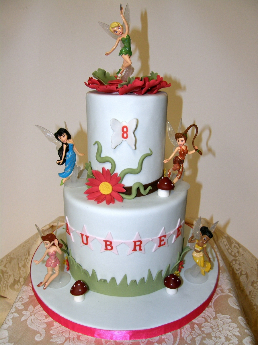 Fairies For Aubree on Cake Central