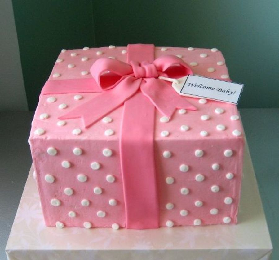 Pink Gift Box on Cake Central