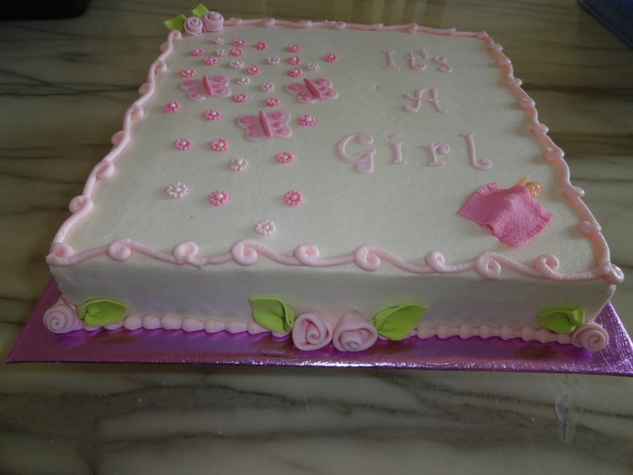 Baby Shower For A Girl. on Cake Central