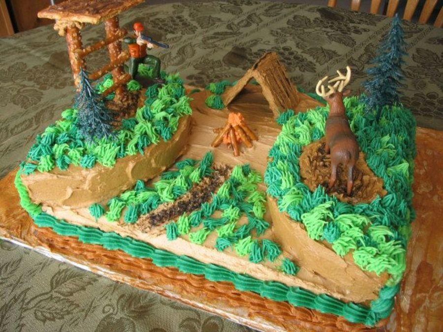 Hunting Scene Cake Decorations : Deer Hunting Cake - CakeCentral.com
