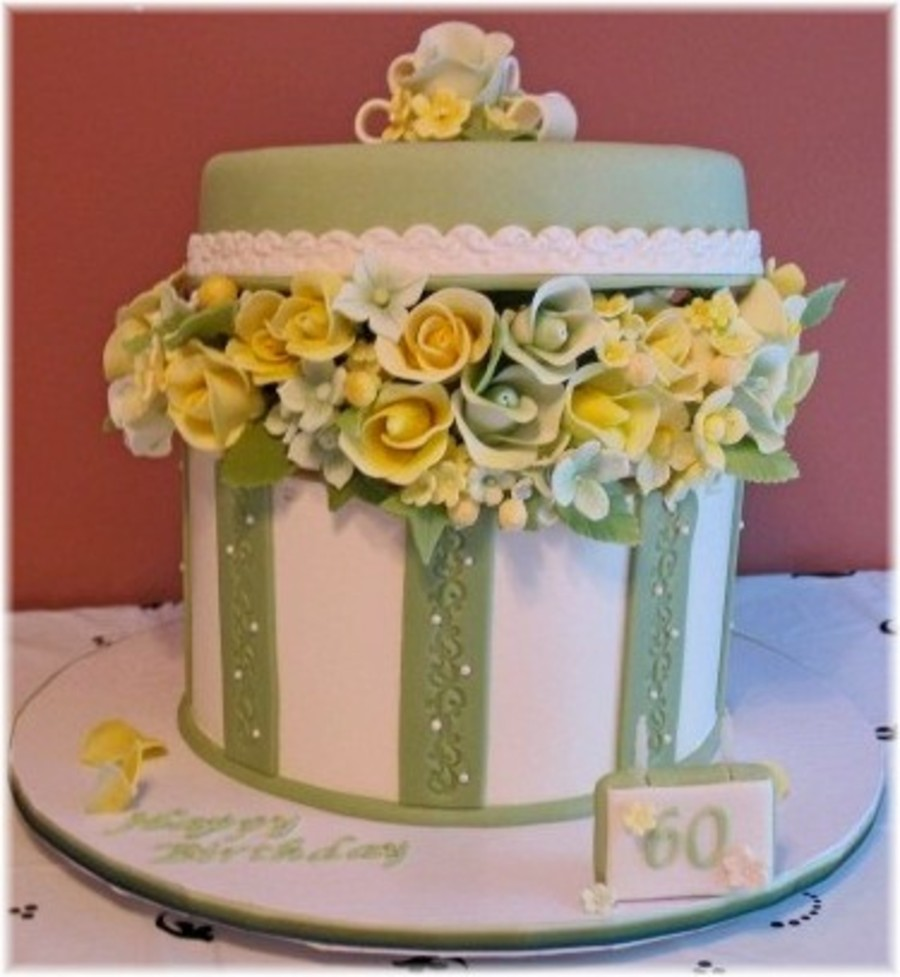 Wondrous Maries 60Th Birthday Hatbox Cake Cakecentral Com Funny Birthday Cards Online Alyptdamsfinfo