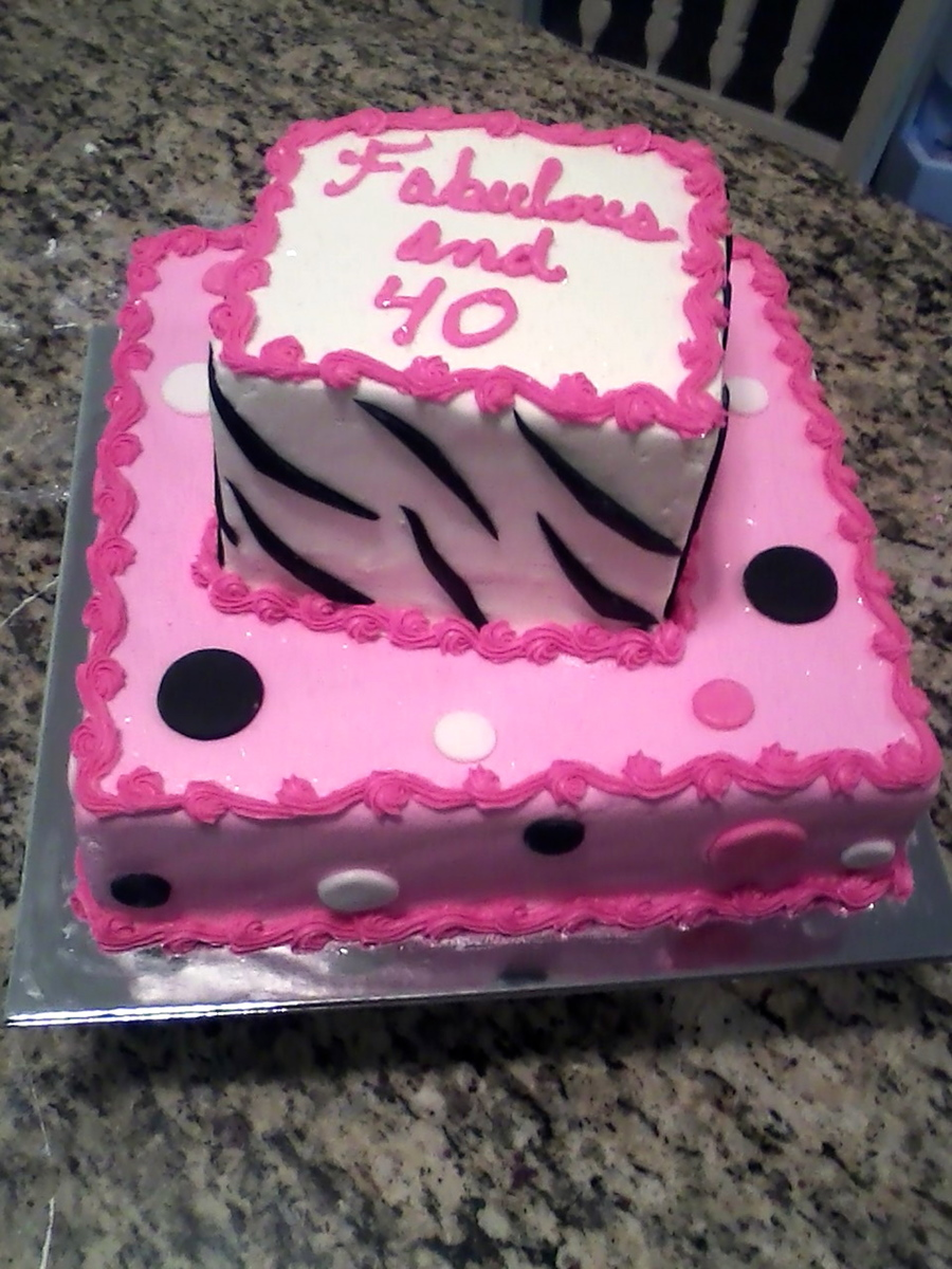Fabulous And 40 on Cake Central