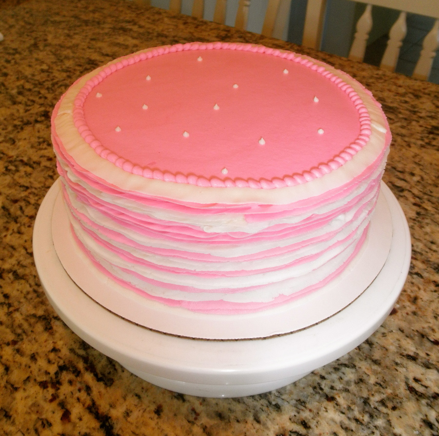 Pink And White Ruffles on Cake Central