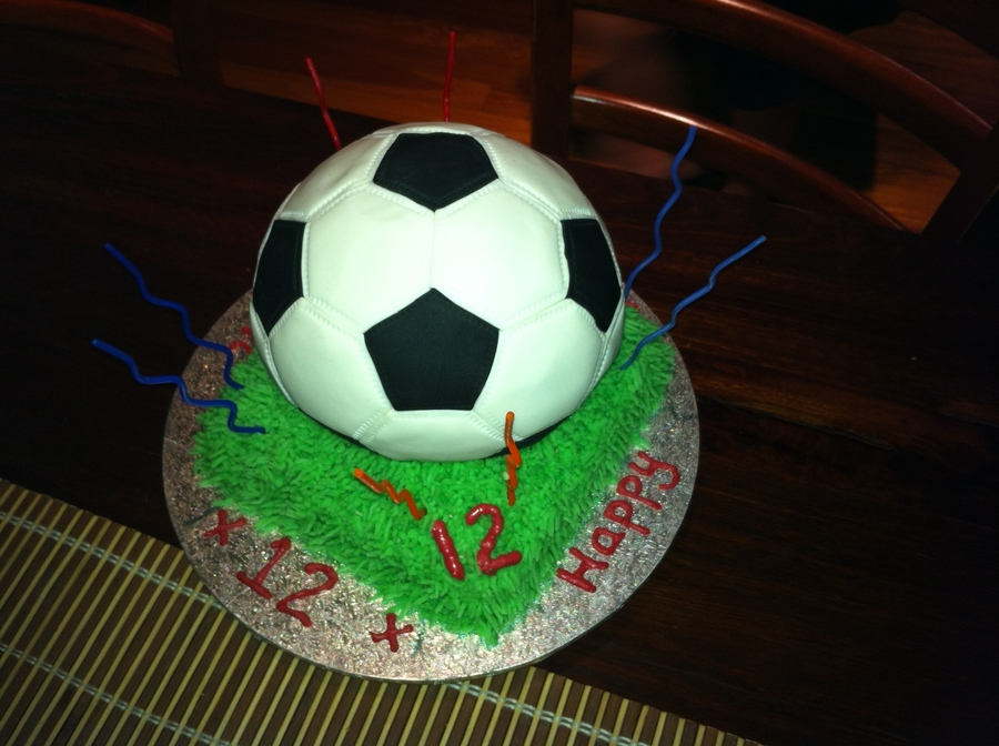 Football Soccer Cake on Cake Central