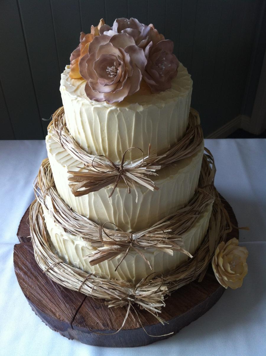 Tortas Para Matrimonio Rustico : Rustic wedding cake cakecentral