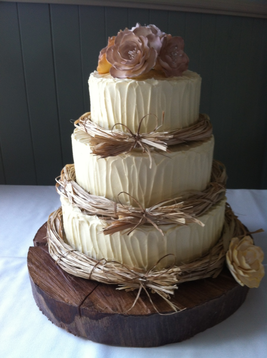 wedding cake ideas rustic rustic wedding cake cakecentral 22934