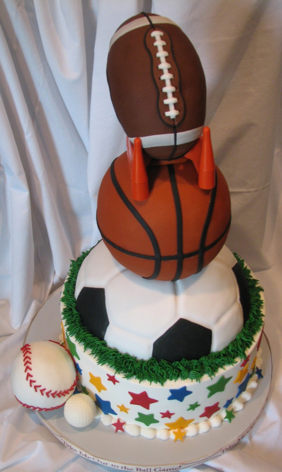Photo Cake Football Theme