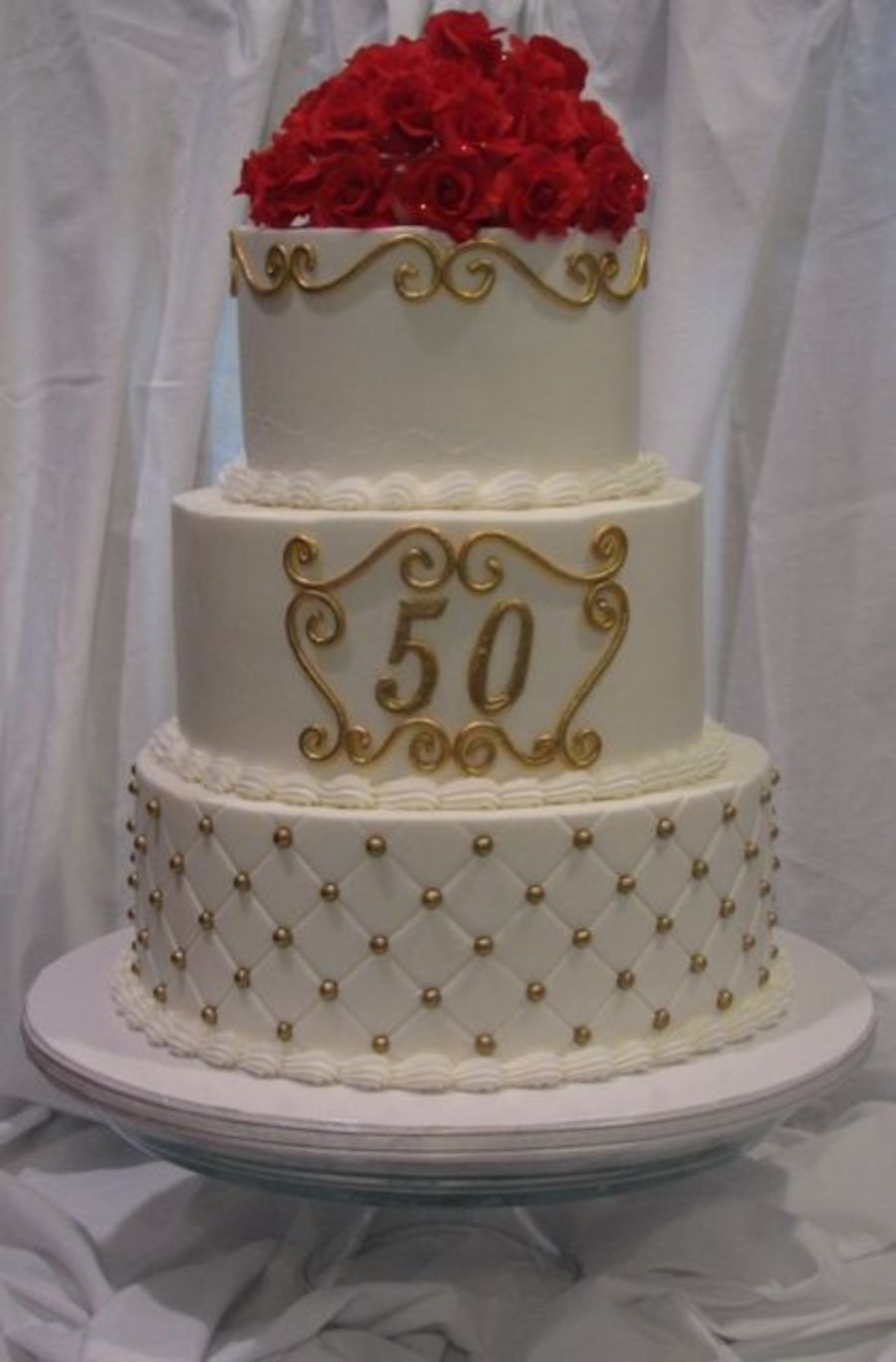 Gold Luster Dust Wedding Cakes