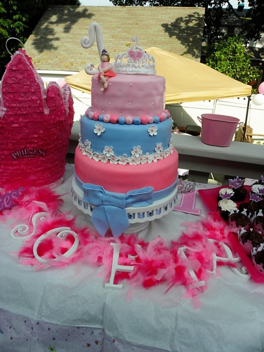 1St Birthday Princess Cake  on Cake Central