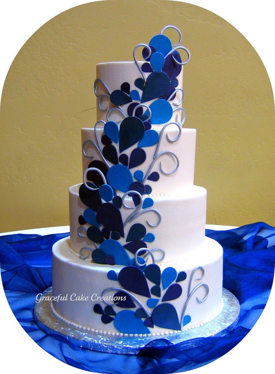 Peacock Themed Wedding Cake on Cake Central