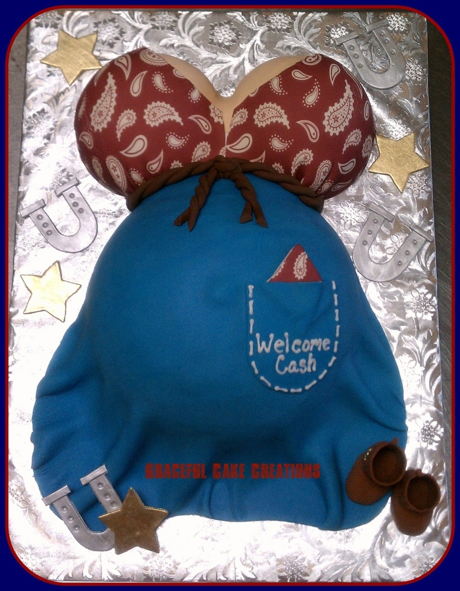High Quality Western Themed Baby Bump Baby Shower Cake On Cake Central