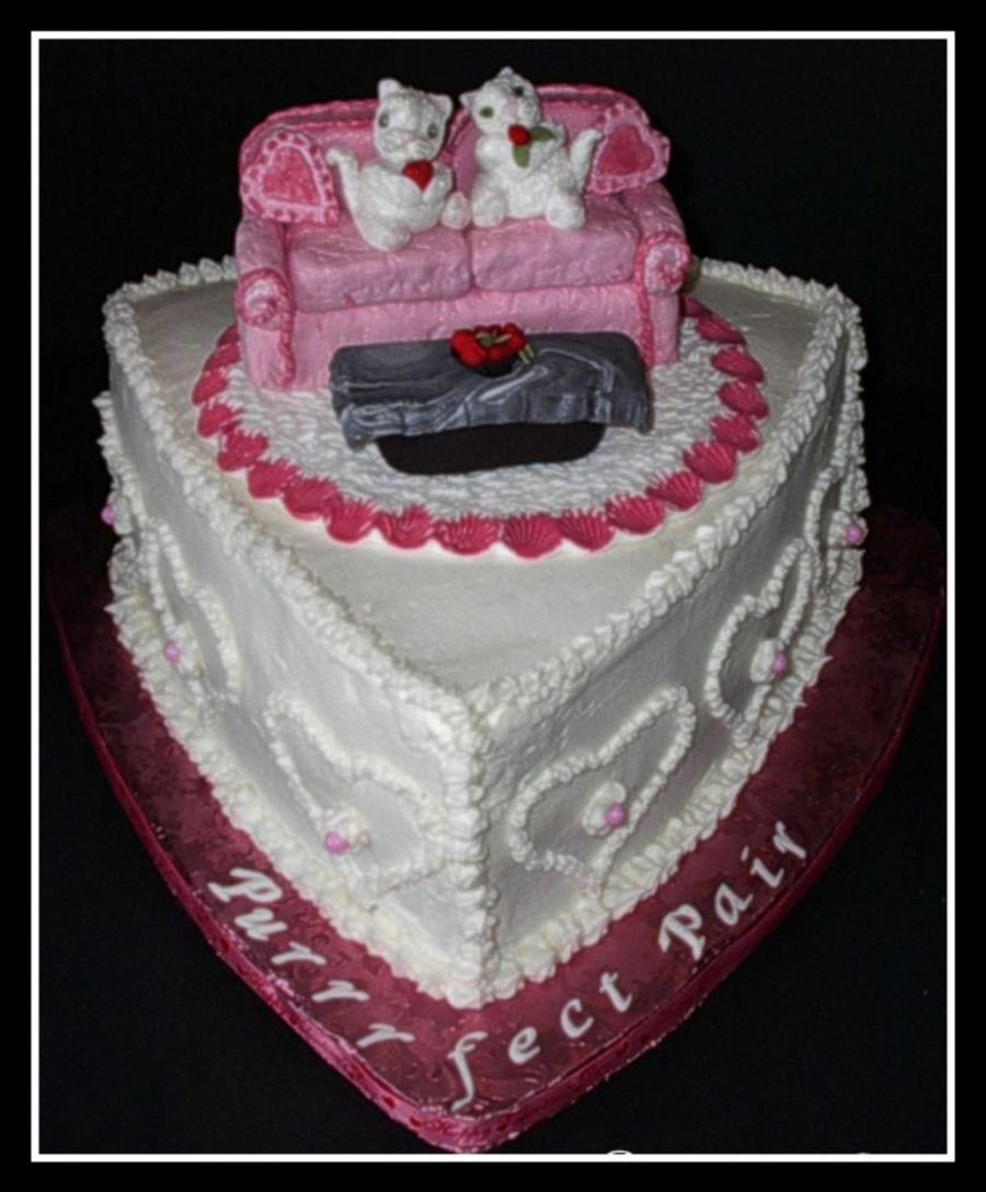 Purrrfect Pair Valentine Kittens on Cake Central