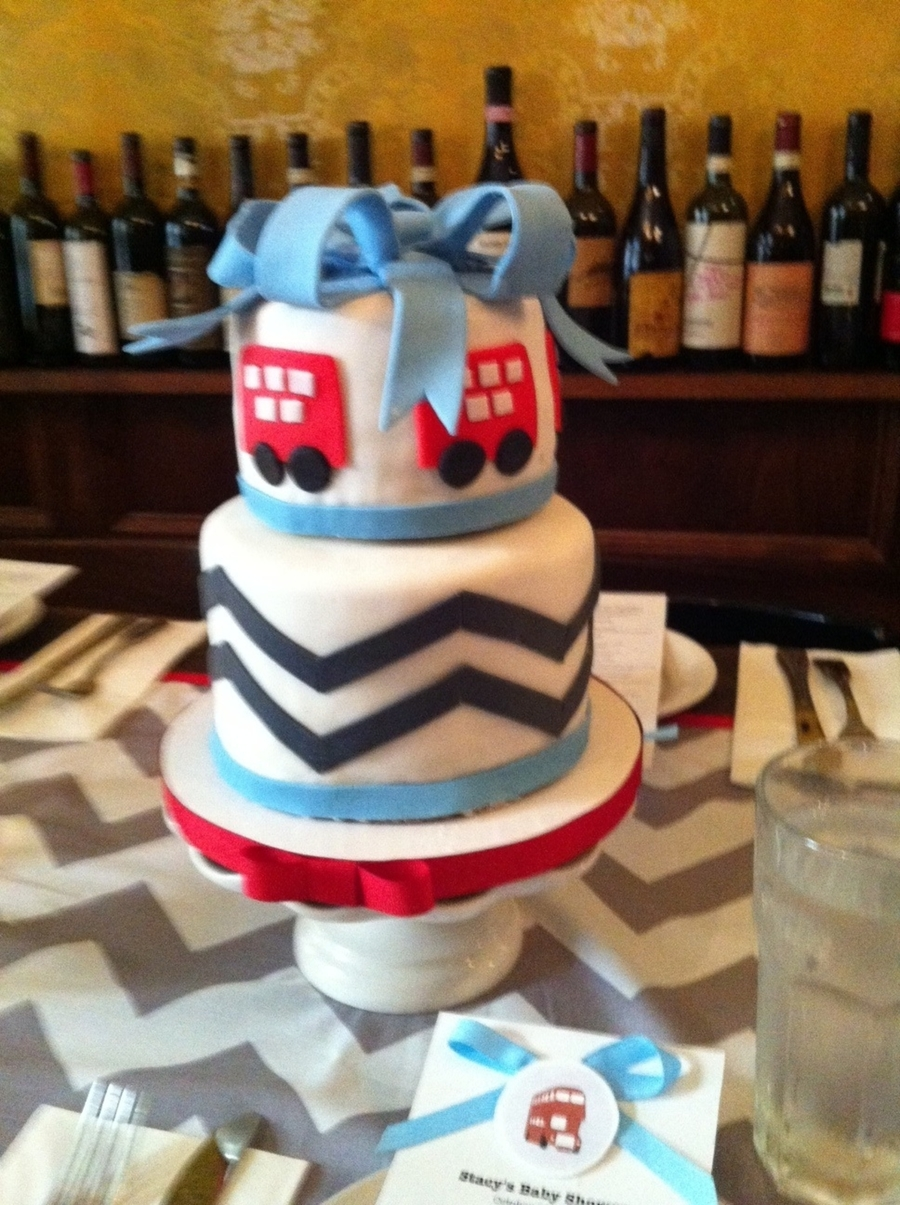 Double Decker Bus Baby Shower on Cake Central