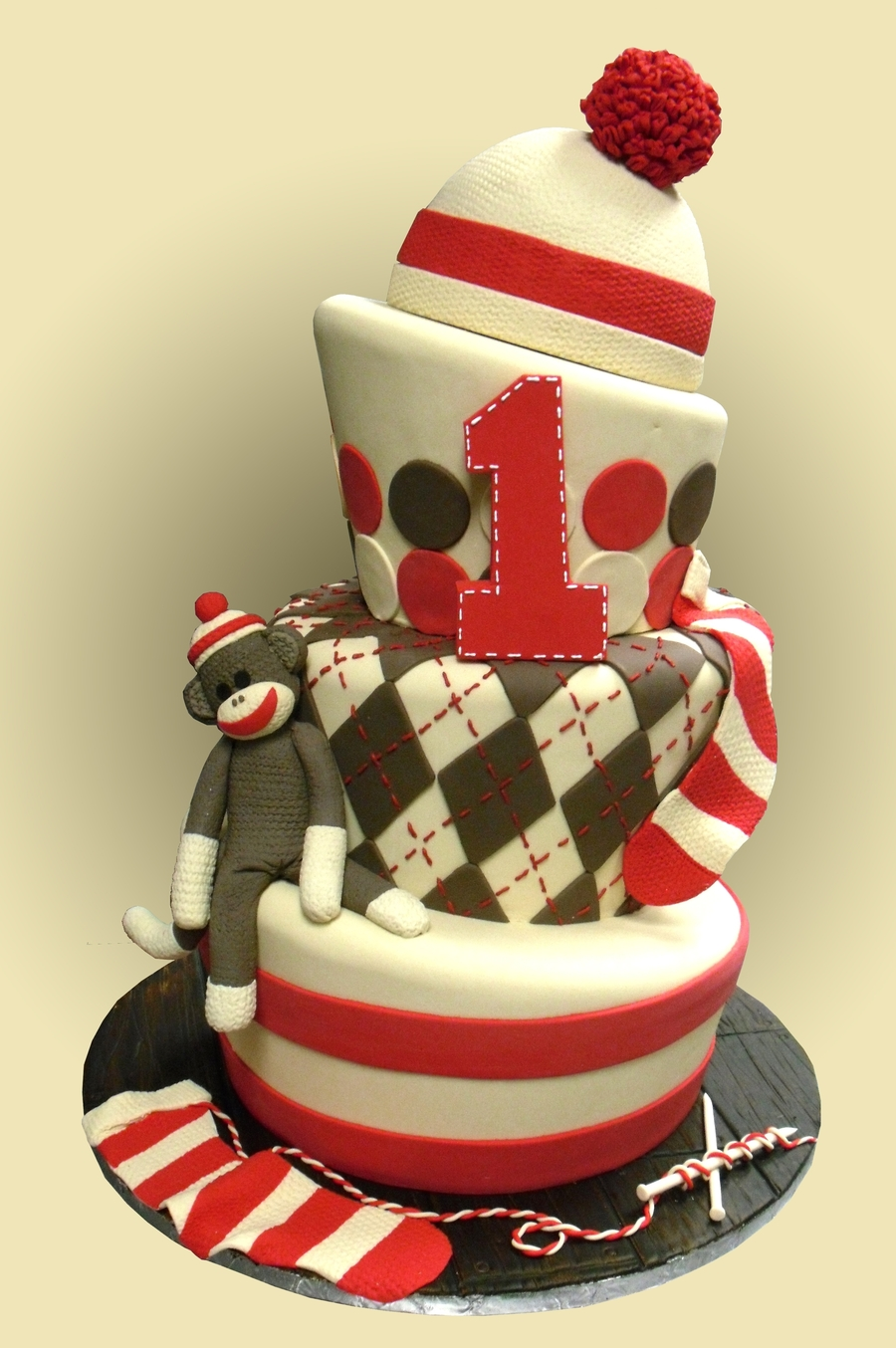 Sock Monkey Cake By The London Baker on Cake Central