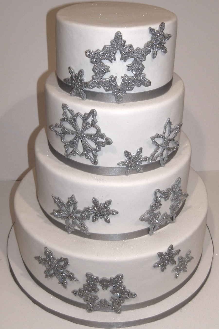 Sparkly Snowflake Wedding Cake on Cake Central
