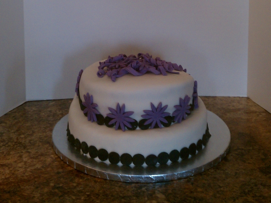 Purple White And Black Birthday Cake Cakecentral