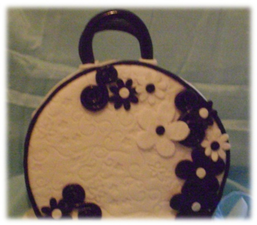 Black And White Purse on Cake Central