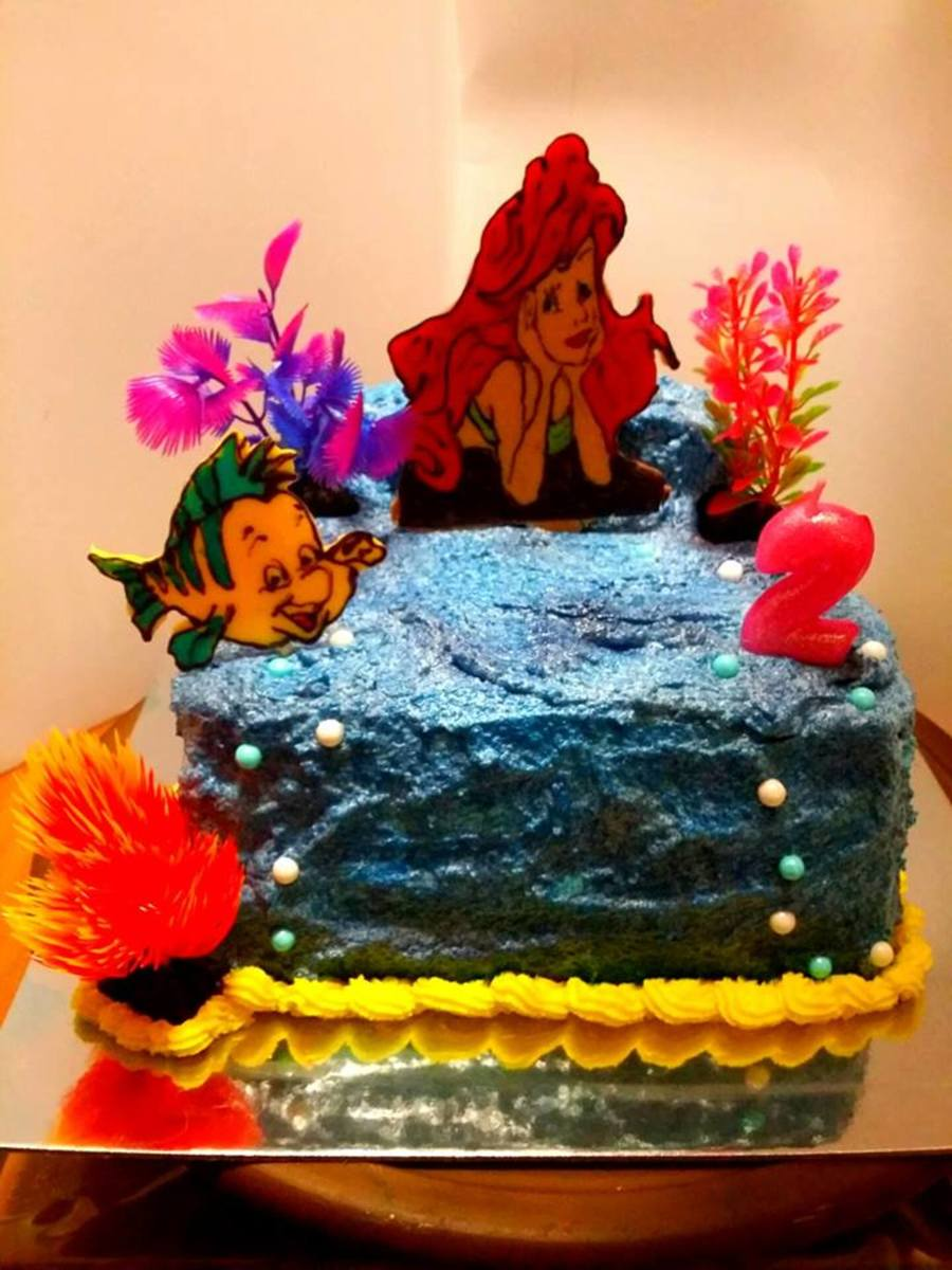 Little Mermaid Bc Airbrushing Candy Melts Cakecentral
