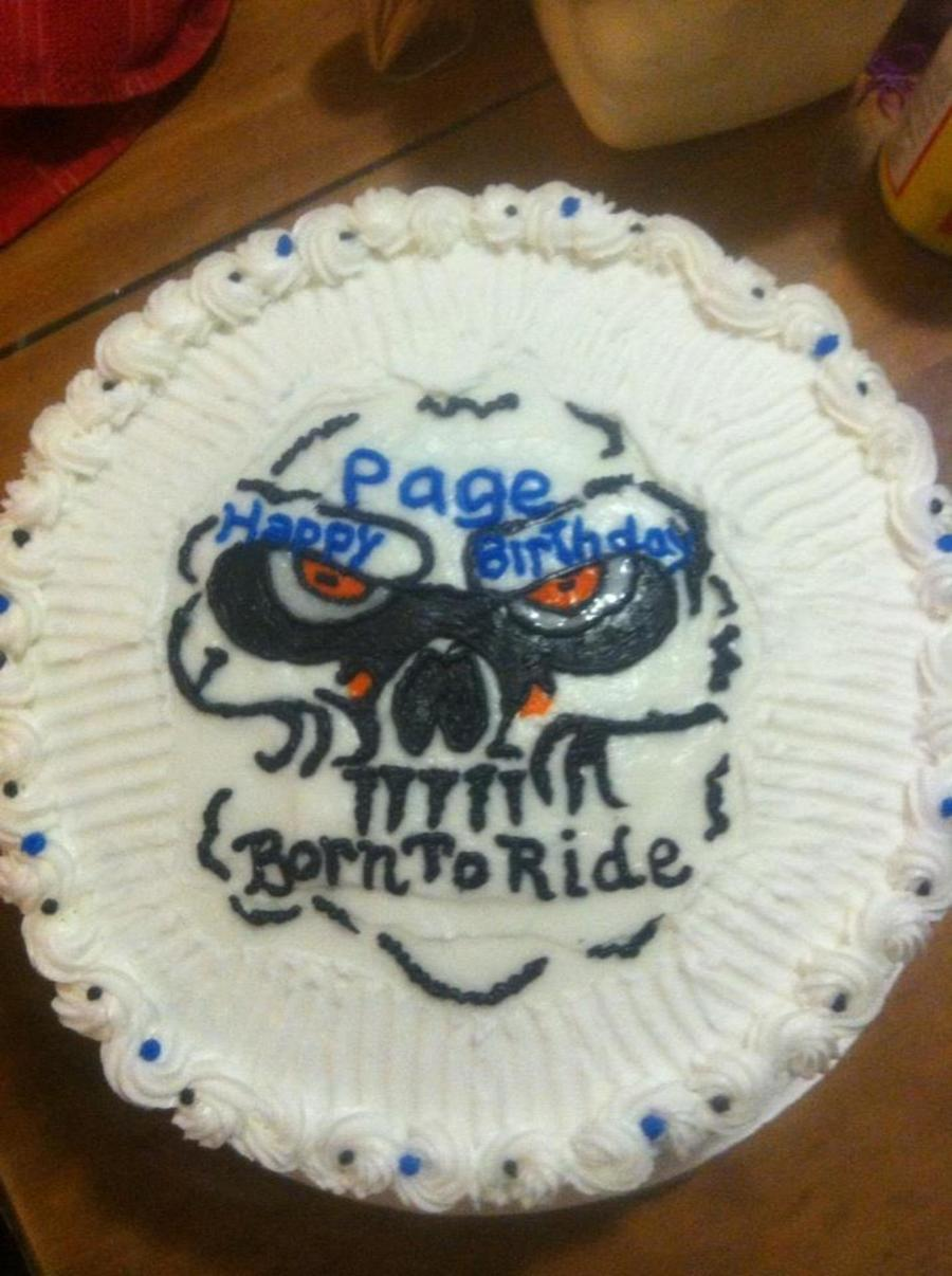 Bc Lemon Cake For A Guy That Rides Motorcycles Needed An Idea For His Gf And Came Up With This  on Cake Central