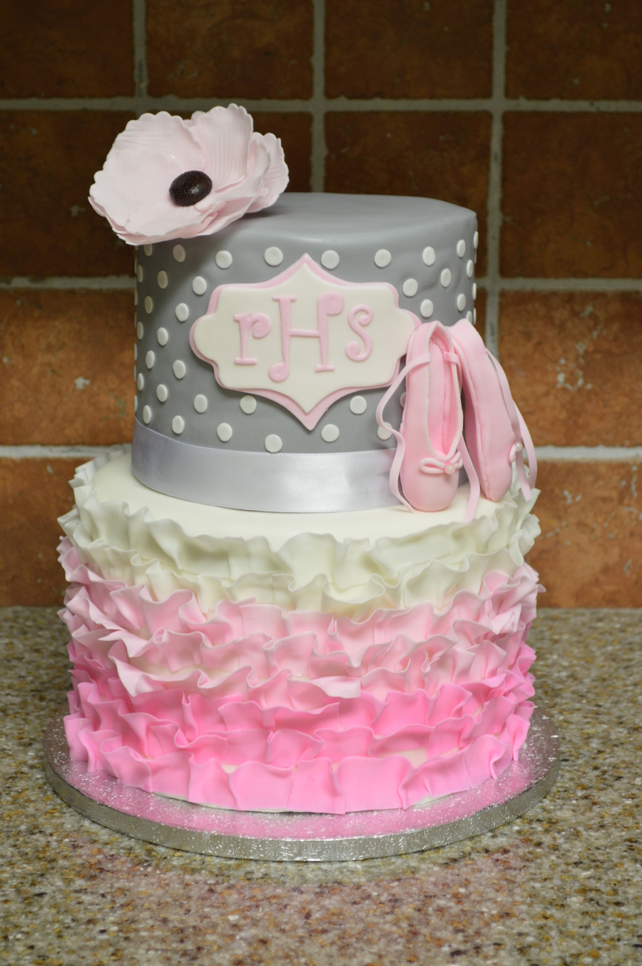 ballet princess baby shower cake