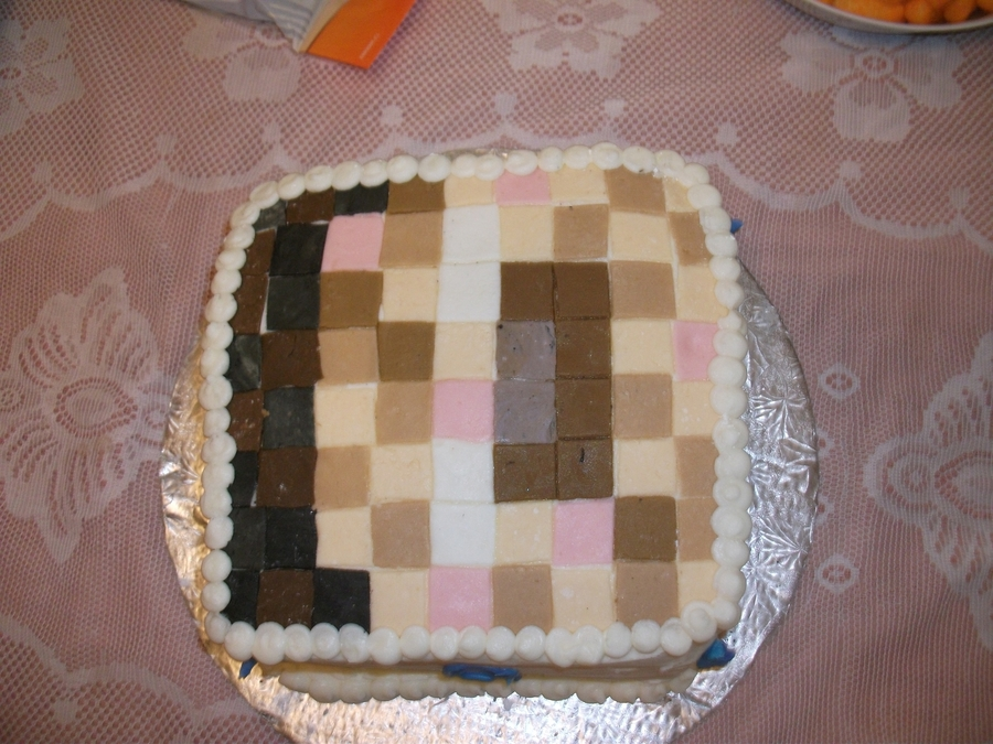 Mindcraft Herobrine on Cake Central