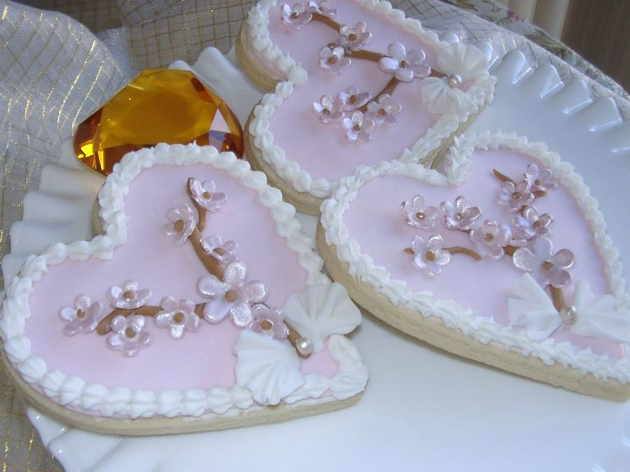Cherry Blssoms Valentine Cookies on Cake Central