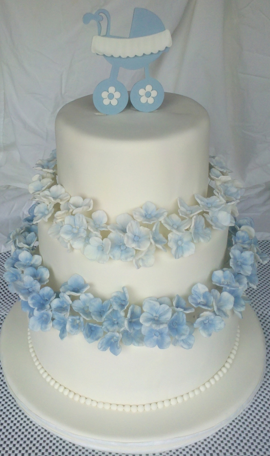 Blue Hydrangea Baby Shower on Cake Central