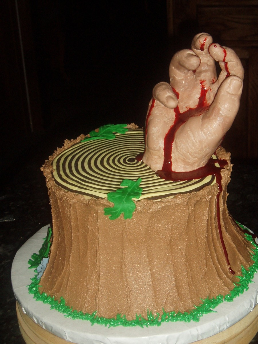 Evil Dead Severed Hand on Cake Central