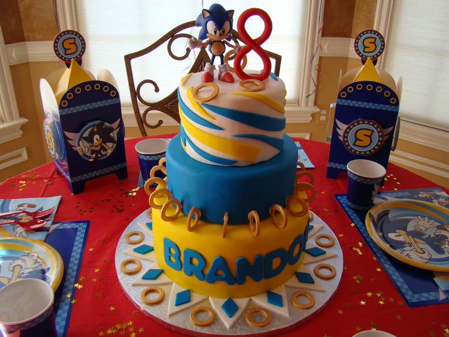 Sonic Birthday Cake Cakecentral