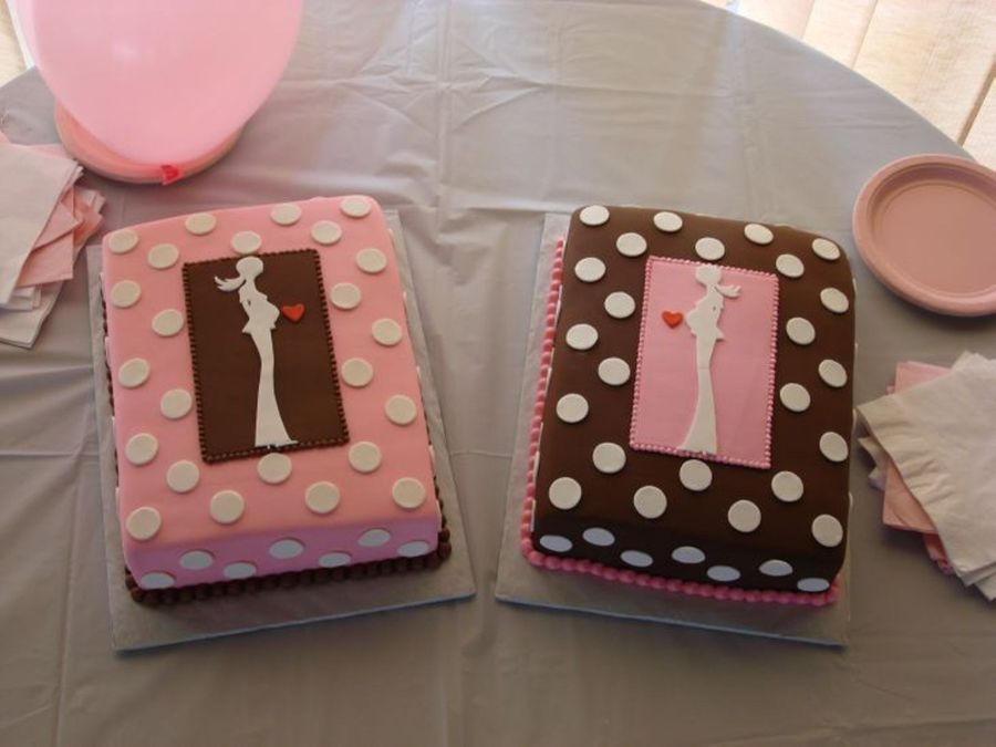 Modern Pink And Brown Baby Shower  on Cake Central