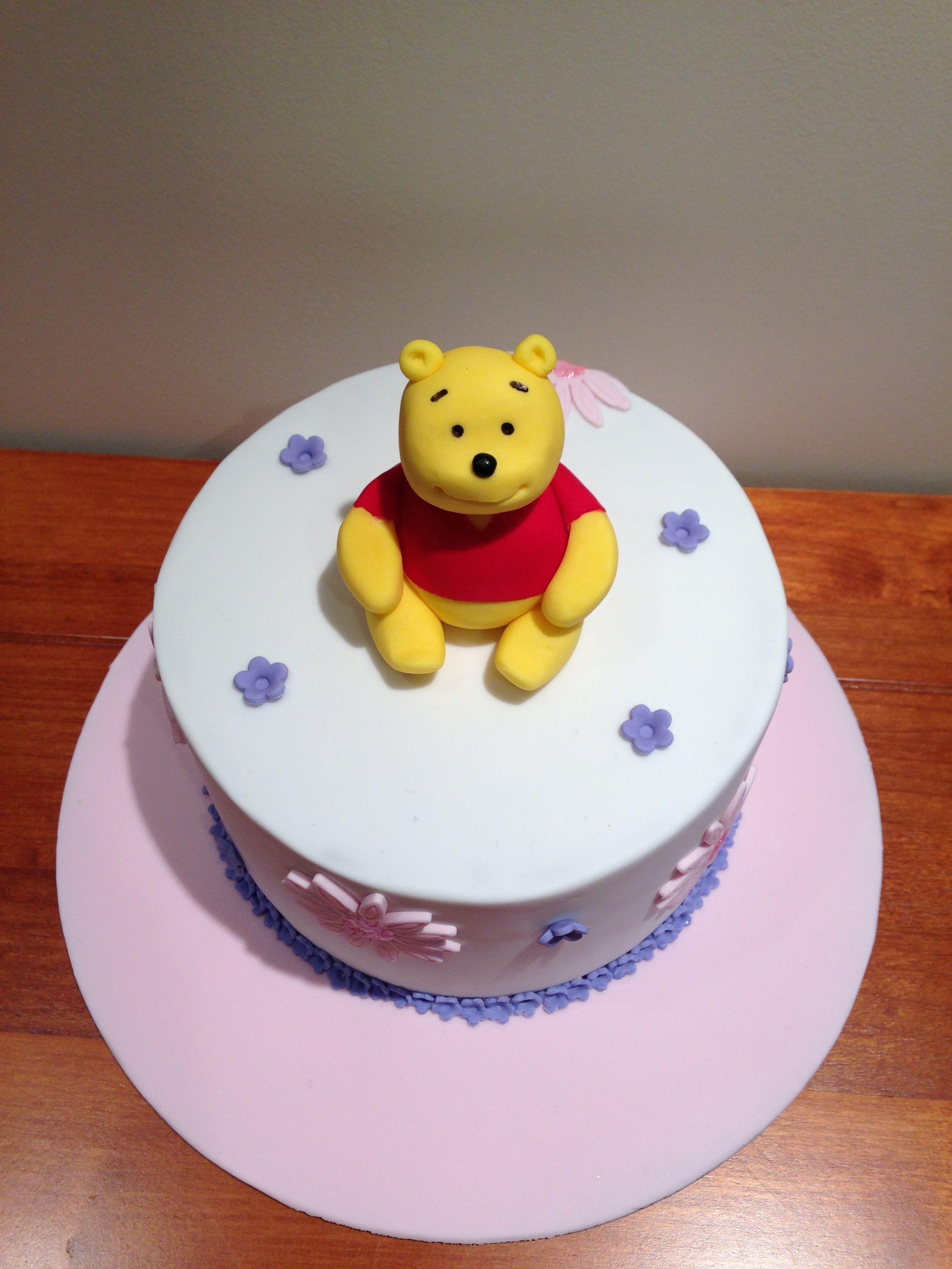 Triple Layered Choc Cake   Winnie The Pooh Baby Shower Cake