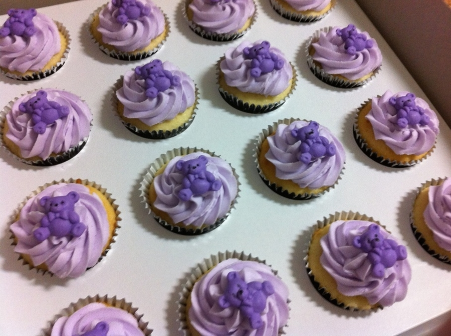 Pink And Purple Baby Shower Cupcakes CakeCentralcom