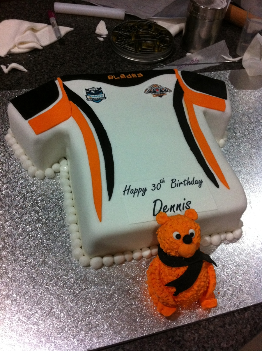 Nrl West Tigers Jersey Cake on Cake Central