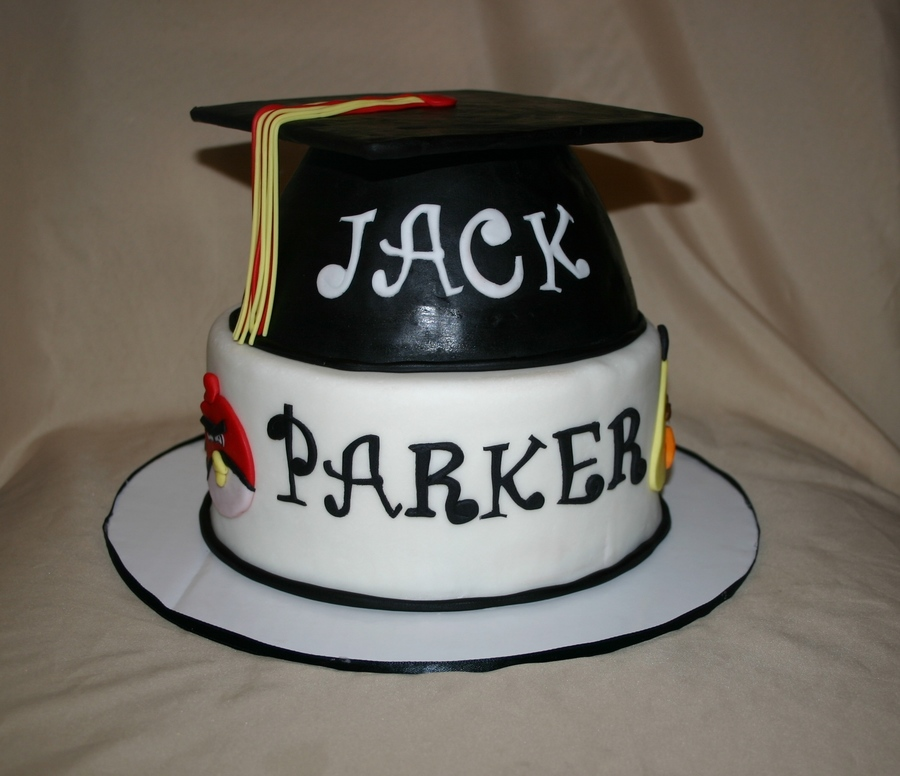 Angry Birds Graduation Cake on Cake Central
