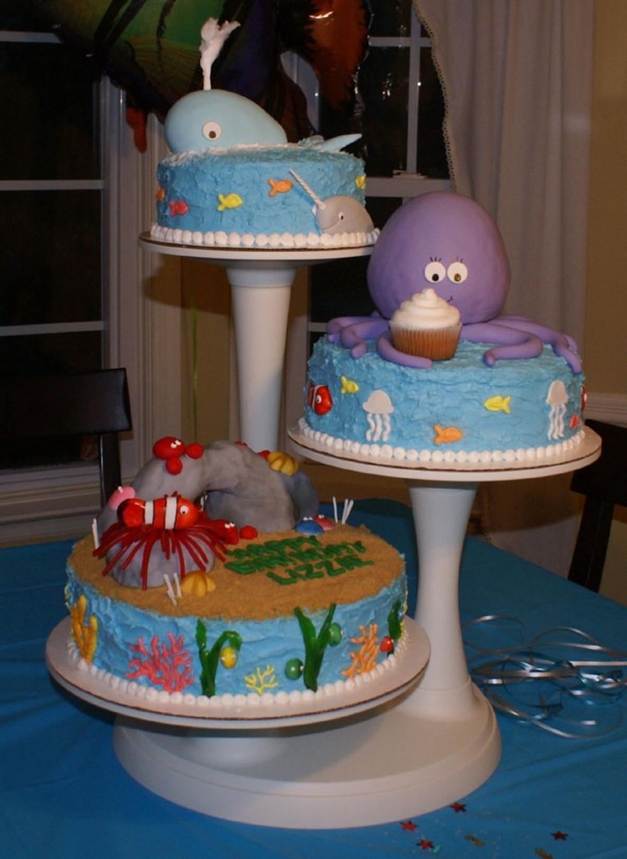 Octopus fish cake for Fish birthday cake