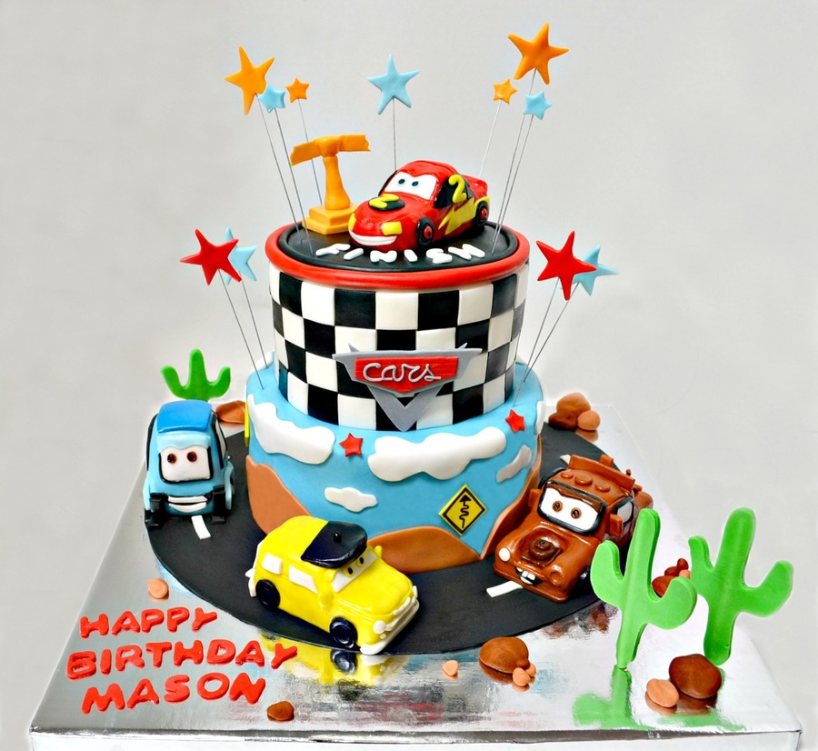 Cars Themed Cake on Cake Central