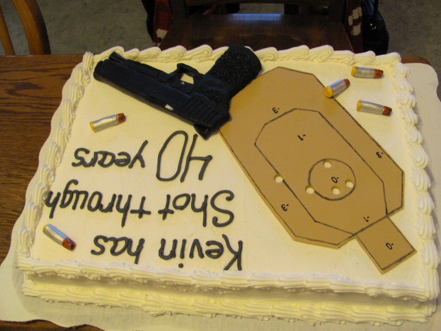 Gun And Target Birthday Cake Cakecentral