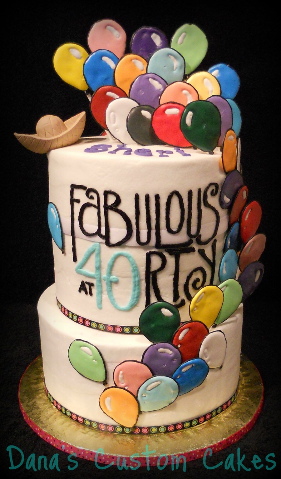 Astounding Balloon 40Th Birthday Cakecentral Com Personalised Birthday Cards Veneteletsinfo