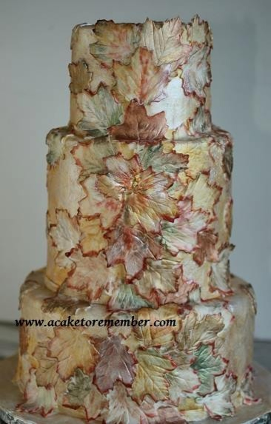Gumpaste Leaves Painted With Food Coloring And Luster Dusts on Cake Central