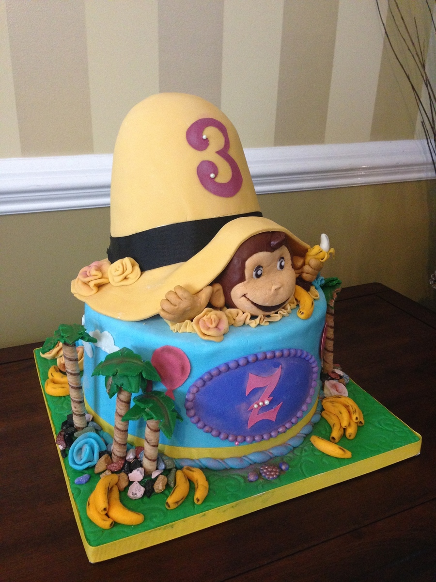 Remarkable Curious George Birthday Cake Cakecentral Com Funny Birthday Cards Online Sheoxdamsfinfo