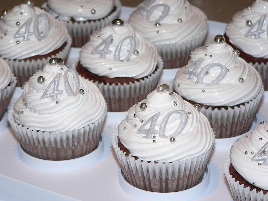 Terrific 40Th Birthday Cupcakes Chocolate Cakecentral Com Funny Birthday Cards Online Eattedamsfinfo
