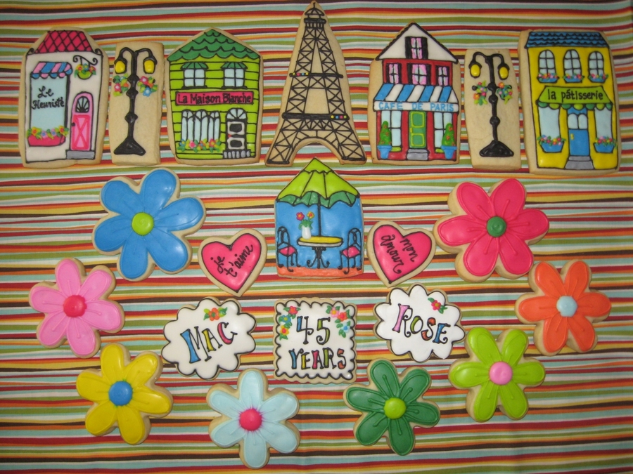Paris Anniversary Cookies on Cake Central