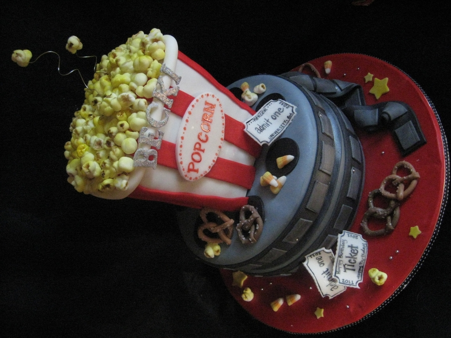 Dreamy Movie Popcorn Cake! on Cake Central