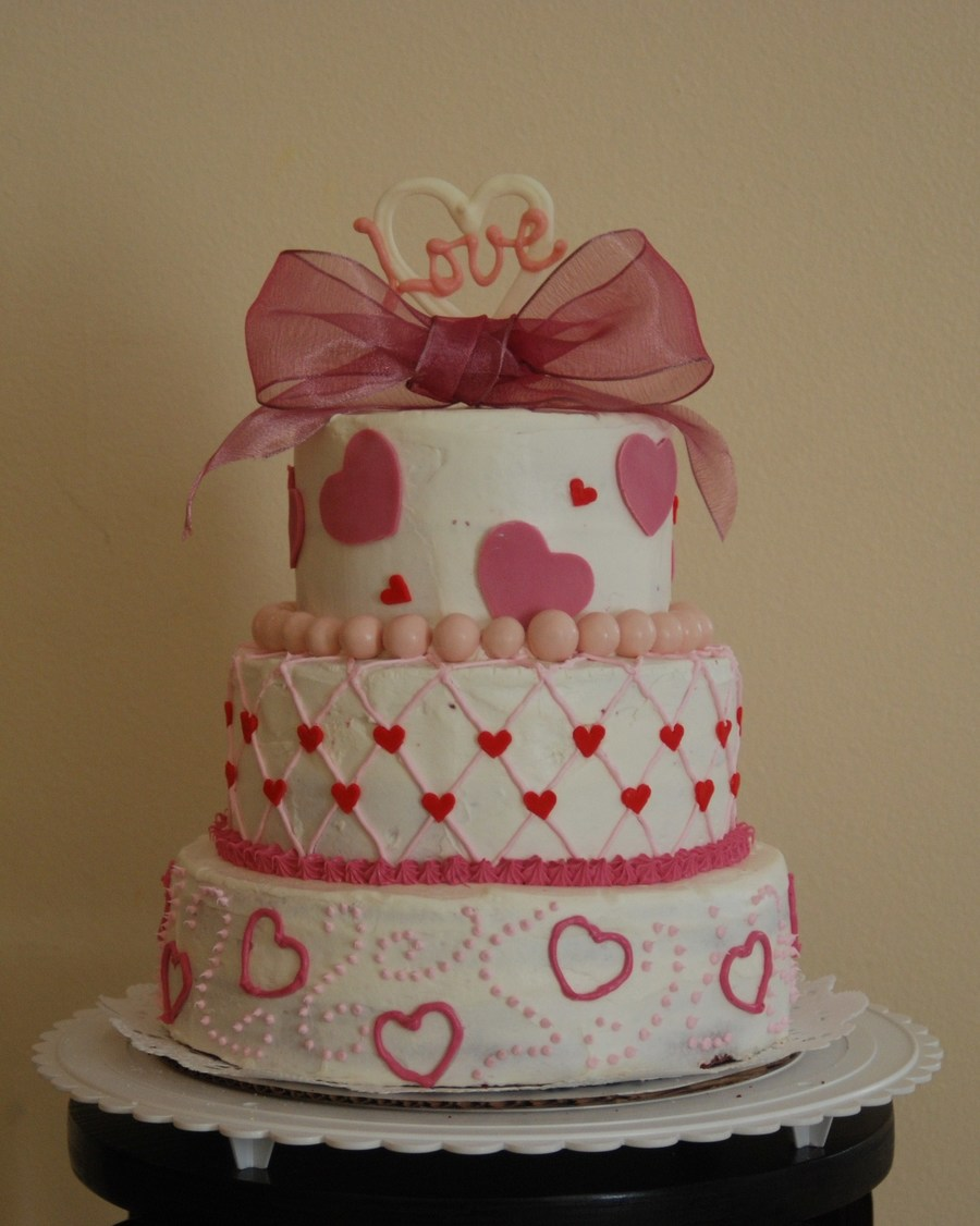 Valentine's Day Engagement on Cake Central